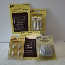 Dollhouse miniatures lot accessories  for lighting wiring extention cord