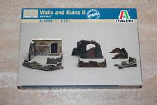 Italeri 6090 Walls and Ruins II 1:72 NEU OVP Diorama Mauern Ruinen