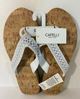 NEW WOMEN'S CAPELLI FLIP FLOPS BLING SPARKLE RHINESTONES size 11