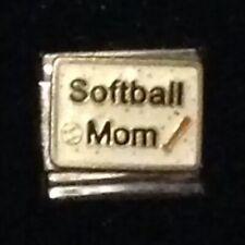 Softball Mom - Baseball - Italian Charm Bracelet Link 9mm - D'LINQ