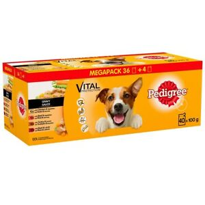 MIXED CHUNKS IN JELLY Pedigree Variety Pouch in Gravy, 40 x 100g (64)
