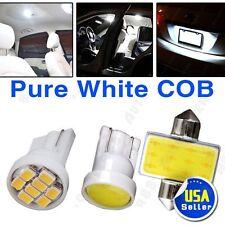 "8X White 12V COB LED Interior SMD Package Kit W5W 194 T10 + Festoon 1.22""DE3175"