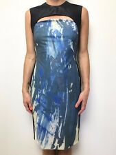 FAB MANNING CARTELL BODY CON KEYHOLE DRESS SLEEVELESS SZ 10 STRETCH
