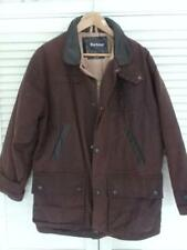 BARBOUR Bushman WAXED Jacket Brown Size Small