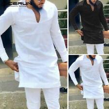 Men's Long Sleeve Dashiki Clothing African Hippies Casual Blouse Long Shirt Tops