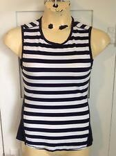 Athleta Navy Ocean Striped Chi Muscle Tank XS