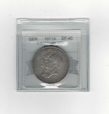 **1911A**Germany, 3 Mark, Coin Mart Graded **EF-40**KM #531