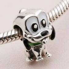 PLUTO the Dog European Charm & Gift Pouch - Sterling Silver S925 DISNEY - Minnie
