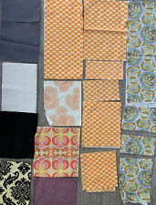 Sample Lot Of Amy Butler & Other Fabric Orange Lotus Sand Star Full Moon More