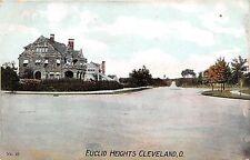 Ohio postcard Cleveland Euclid Heights street scene