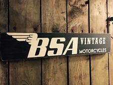 BSA Sign plaque  Vintage Old Look Car Motorcycle Motorbike Wooden Dad Gift