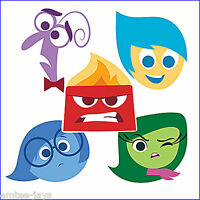 Inside Out Stickers x 5 - Disney Pixar Movie - Shaped - Birthday Party Favours