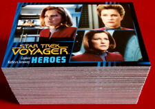 STAR TREK VOYAGER - Heroes & Villains - Complete Base Set, 99 cards, Rittenhouse