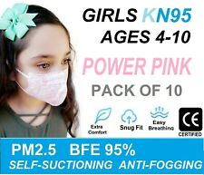 10 Pack KIDS KN95 Face Mask Disposable Mouth Cover Children AGES 4-10 Girls PINK