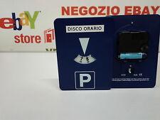DISCO ORARIO ELETTRONICO AUTOMATICO CON ADESIVO IN ITALIANO PARCHIMETRO + PILA