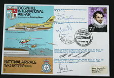 BIGGIN HILL INTERNATIONAL AIR FAIR FLOWN COVER 1973 MULTI SIGNED.