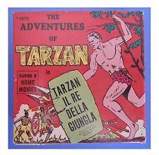 """Tarzan, """"La tana dei piccoli uomini"""", film super 8 colore muto 3 min (15 metri)"""