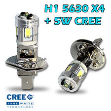 2x H1 SMD 5W CREE +4 5630 LEDS WHITE FOG LIGHT FLASH DRL PROJECTOR