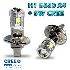 2x H1 Smd 5w Cree +4 5630 Led Blanco Luz De Niebla Flash Drl Proyector