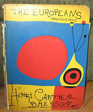 Henri Cartier Bresson The Europeans Original 1955 ED HC Caption Booklet Miro
