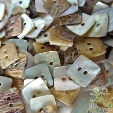 100 pcs Mother of Pearl Square Shell Button Lots 11mm 2 Holes Craft Sewing