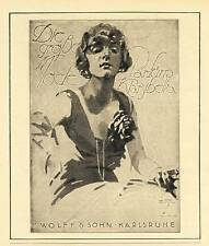 Parfum Klarybella Hohlwein Karlsruhe Wolff Reklame 1924 (N)