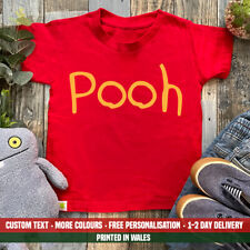 Kids Pooh Bear T Shirt - Funny Halloween Party Costume Outfit Fancy Dress Top