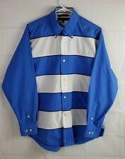 Tommy Hilfiger Medium Mens Long Sleeve Blue/White Button Down Shirt