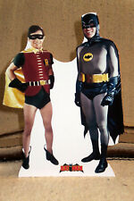 "Batman and Robin 1960's TV Show Color Figure Tabletop Display Standee 10.5"" Tall"