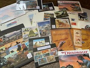 DINOSAUR STAMPS LARGE COLLECTION MINT USED MINI SHEETS ETC
