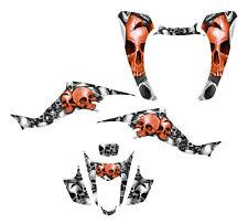 KFX 400 LTZ400 graphics decal kit 2003 2004 2005 2006 2007 2008 Orange Boneyard