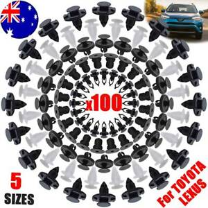 100x For TOYOTA LEXUS Trim Body Clips Engine Cover Shroud Cowling Guard Fastener