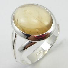 Grams 925 Sterling Silver Fashion Stone Genuine Citrine Ring Sz 7.75 4.9