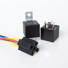1X DC 12V Car SPDT Automotive Relay 5 Pin 5 Wires Harness Socket 30/40 Amp EB