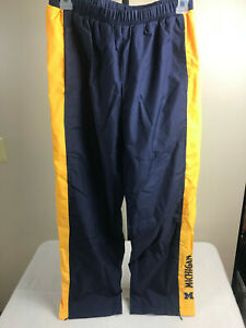 University of Michigan Wolverines Ladies Embroidered Pants Large 100% Poly NEW