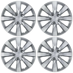 """Set of 4 Wheel Covers Hubcaps Fit 2014-2016 Toyota Corolla 16"""" Silver"""