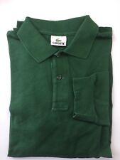Classic Lacoste Long Sleeve Men Shirt 100% Cotton Sz 7 Green