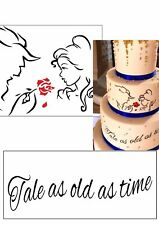 Disney Beauty and the Beast Silhouette edible icing cake topper