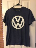 VW Volkswagen Tee Shirt Men's Size Medium Blue With White VW Logo VW Emblem