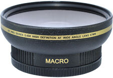 62MM WIDE ANGLE + MACRO LENS FOR JVC VIDEO CAMERAS WITH 62MM THREAD