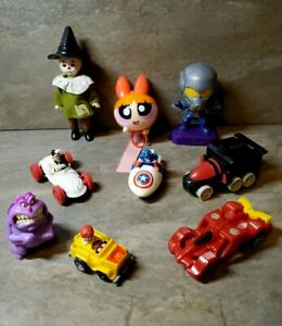 McDonalds RARE Lot of 9 Happy Meal TOYS Hot Wheels Madame Alexander WIZARD OF OZ