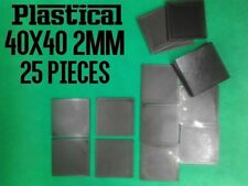 40mm 40x40mm 2mm plastic square miniature bases 25pc, Buy 2 Packs Get 1 FREE!