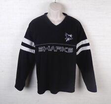 San Jose Sharks Mens Pullover Fleece Sweater Size Large