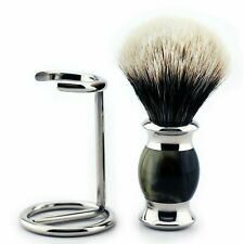 Men's Shave Silvertip Hair Badger Brush for Shaving with Brush's Stand Haryali