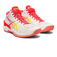 Asics Womens Sky Elite FF MT Indoor Court Shoes - Pink White Sports Squash