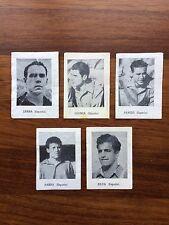 España 5 Cromos 1950 Brasil Zarra,gainza,Panizo,Silva,Parra