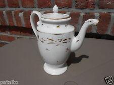 Verseuse café thé Empire Restauration.XIXème.Porcelaine Paris. Tea coffee jug..B