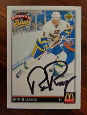 "St. Louis Blues Rob Ramage Signed 1992 Upper Deck ""McDonald's"" Card B"