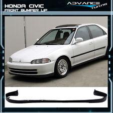 Fits 92-95 Honda Civic 4Dr SIR OE-Optional Front Bumper Lip Spoiler Bodykit PU