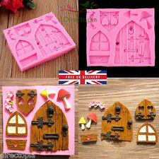 3D Fairy Elf House Door Silicone Fondant Mould Cake Decorating Chocolate Clay